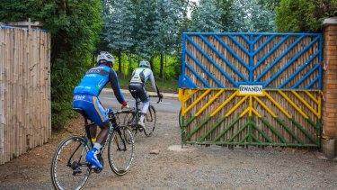 Team Rwanda riders leave the ARCC after training.