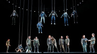 The valkyries in Opera Australia's 2013 production of Wagner's The Ring.