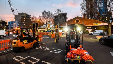 The start of the day at Queen Victoria Market.