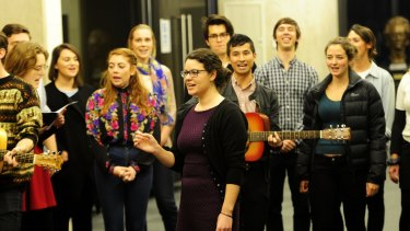 Lift up your voices: Olivia Swift leading new addition, CHOIR Canberra, at the ANU School of Music.