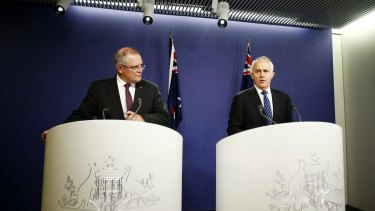 Prime Minister Malcolm Turnbull and Treasurer Scott Morrison field questions about the failed census night.