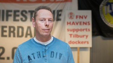 Niek Stam, leader of the FNV Havens labour union.