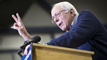 Senator Bernie Sanders, in Portsmouth, New Hampshire, on Sunday.