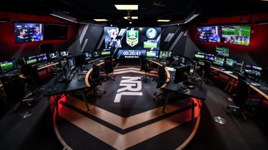 Cost blowout: the NRL bunker before last month's Manly-Eels clash.