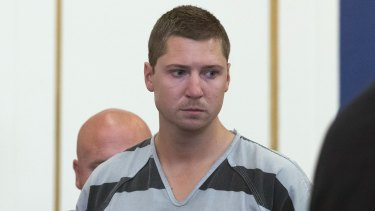 Former University of Cincinnati police officer Ray Tensing appears at Hamilton County Courthouse on Thursday.