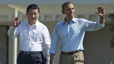 Xi Jinping and US President Barack Obama in California during the Chinese leader's last US visit in 2013.
