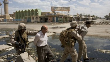 Iraqis detained by U.S. Marines in Ramadi, 2006.