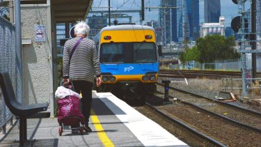 A Melbourne councillor believes South Kensington station should be moved to Kensington's main residential area.