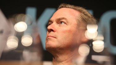 Christopher Pyne has struggled to say whether the government would reform the political donations system.