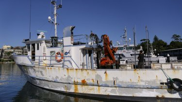 The Dalrymplye fishing vessel is raided at the Brooklyn Marina.