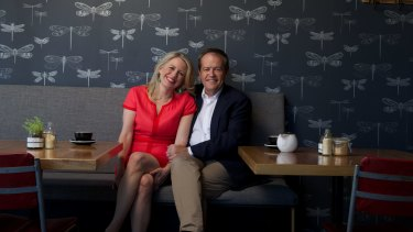Strong bond: Bill Shorten with his wife, Chloe.