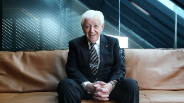 """Frank Lowy: """"The company is now so well positioned for future success so I can stand down and feel very satisfied and comfortable about it."""""""
