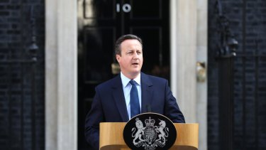 British Prime Minister David Cameron resigns in the wake of the historic EU referendum.