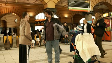 Back to Back Theatre's Small Metal Objects was staged at Flinders Street Station in 2005.