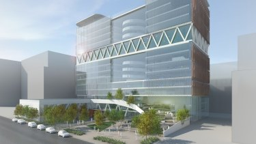 A concept design for one of the two new high-rise high schools.