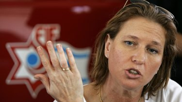 Sacked: Israeli Justice Minister Tzipi Livni warned that right-wing parties were charting a course that could destroy the country.