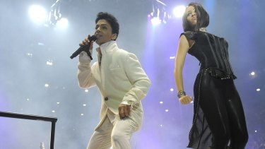 Prince at Rod Laver Arena during his last visit to Melbourne in 2012.