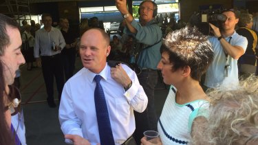Premier Campbell Newman in Ashgrove on Australia Day.