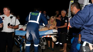 A 22-year-old surfer has suffered serious leg and hand injuries after a shark attack at Bombo Beach.