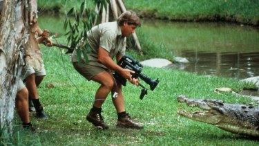 Irwin at work on his series The Crocodile Hunter.