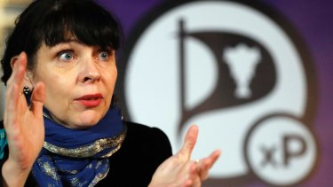 Former Australian resident Birgitta Jonsdottir of the Pirate Party.