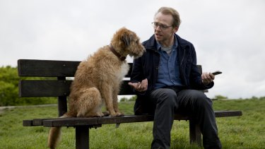 Simon Pegg gets his dog to talk (and listen) in <i>Absolutely Anything</i>.