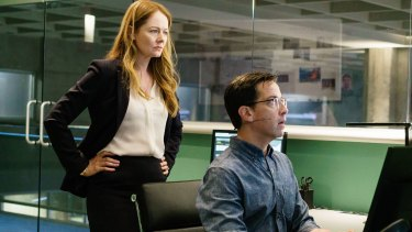 Miranda Otto and Dan Bucatinsky in the 1:00 PM – 2:00 PM episode of <i>24: Legacy</i>.