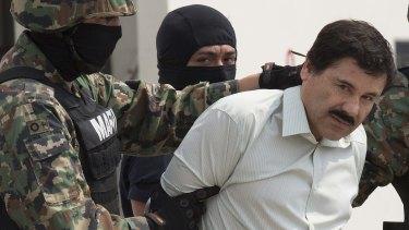 "Joaquin Guzman, aka El Chapo or ""Shorty"", after his arrest in February 2014."