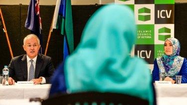 Malcolm Turnbull addresses the Islamic Council of Victoria.