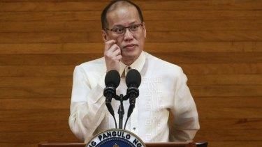 Filipino President Benigno Aquino III delivering his last State of the Nation address in Manila on Monday.