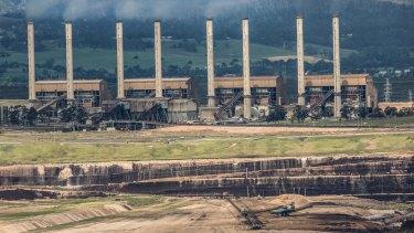 Hazelwood coal mine and power station.