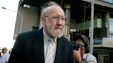 Former St Paul's Pricipal Gilbert Case outside the Royal Commission into Institutional Responses to Child Abuse.