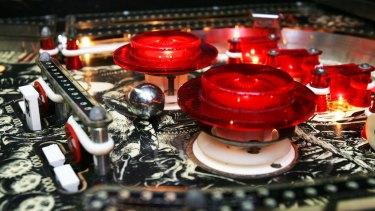 A Centaur pinball machine from the  1970s-1980s.