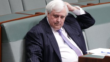Clive Palmer in Canberra on Tuesday.