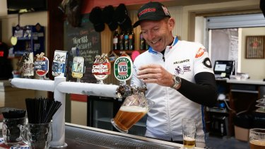 Former Prime Minister Tony Abbott, pictured during this year's Pollie Pedal tour.