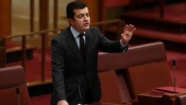 Sam Dastyari in the Senate.