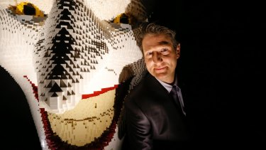 New York contemporary artist Nathan Sawaya's exhibition, The Art Of The Brick: DC Comics, is being held at the Powerhouse Museum.