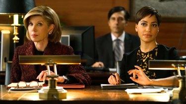 Christine Baranski as Diane Lockhart with Cush Jumbo in The Good Fight.