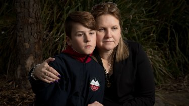 """This is emotional abuse"": Natalie Wykes with her son, Kynan."