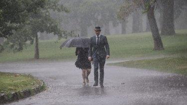 Heavy rains hit Melbourne causing flash flooding.