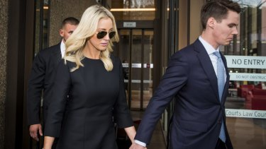Roxy Jacenko with Oliver Curtis during his trial.