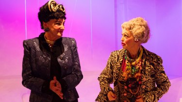 Maggie Dence and Belinda Giblin in <i>The Turquoise Elephant</i>.