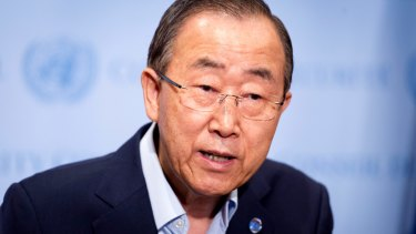 Boxed in: former UN secretary-general Ban Ki-moon was eventually forced to appoint an independent investigation.