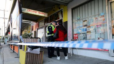 Joe's Organic Market, where police were called to the shooting early on Friday morning.