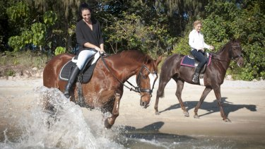 Liz Cantor and Tegan Harrison have struck up a friendship over their mutual love of horses and the sea.
