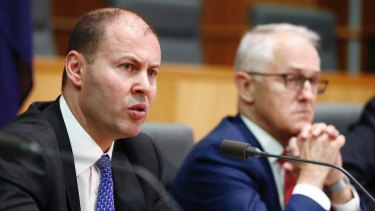 Minister for Environment and Energy Josh Frydenberg and Prime Minister Malcolm Turnbull as they unveiled the National Energy Guarantee in October.