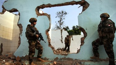 French soldiers on patrol to keep the peace in Bangui, the restive capital of the Central African Republic.