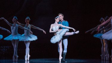 Strong and poised: Amber Scott and Adam Bull reprise their roles in Stephen Bayne's interpretation of Swan Lake.