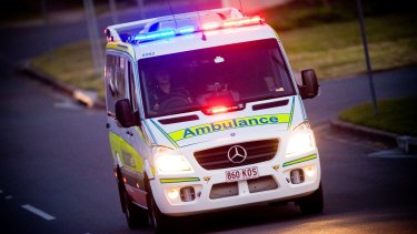 The man was taken to Gold Coast University Hospital.