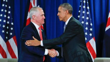 Prime Minister Malcolm Turnbull met with US President Barack Obama at the APEC summit.
